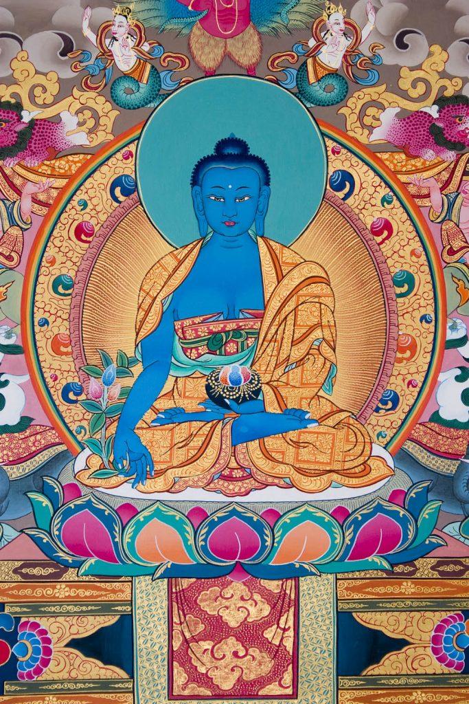 Medicine Buddha close-up