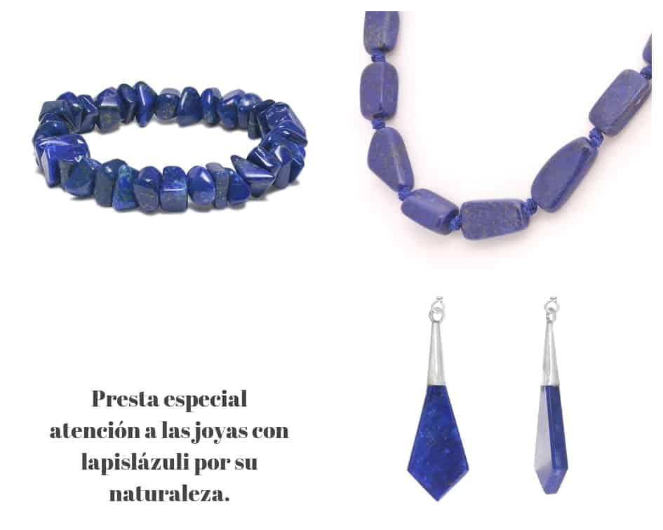 a2eba5dba41b La razón por la que debes prestar especial atención a las joyas con  lapislázuli es por su naturaleza. Aunque según la escala de Mohs alcanza  entre 5 y 6 ...